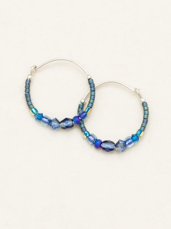 HOLLY YASHI Denim Sonoma Bead Hoop Earrings *95239