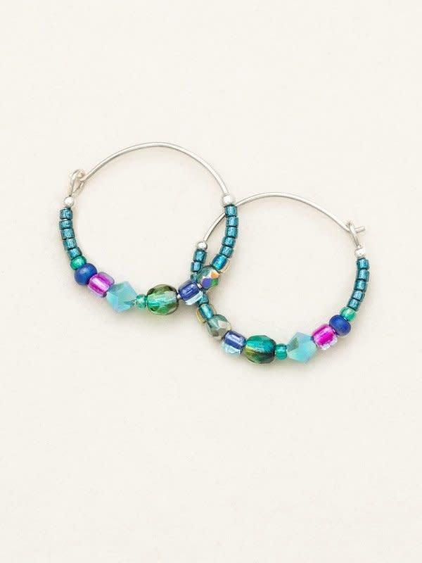 HOLLY YASHI Peacock Sonoma Bead Hoop Earrings *95238