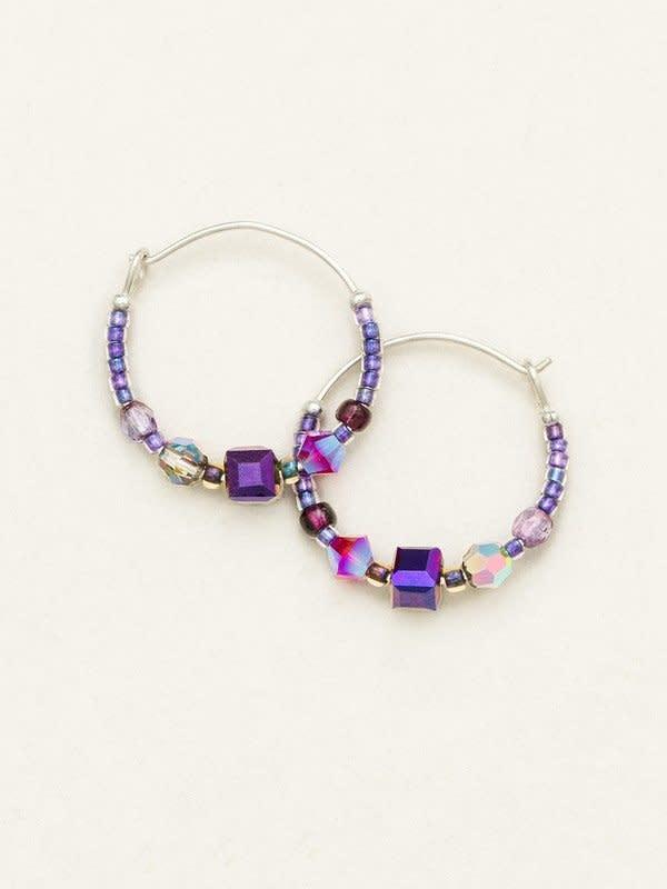 HOLLY YASHI Plum Sonoma Bead Hoop Earrings *95237