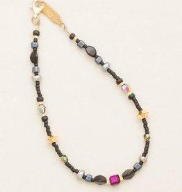 HOLLY YASHI Galaxy Black Sonoma Bead Bracelet *18822