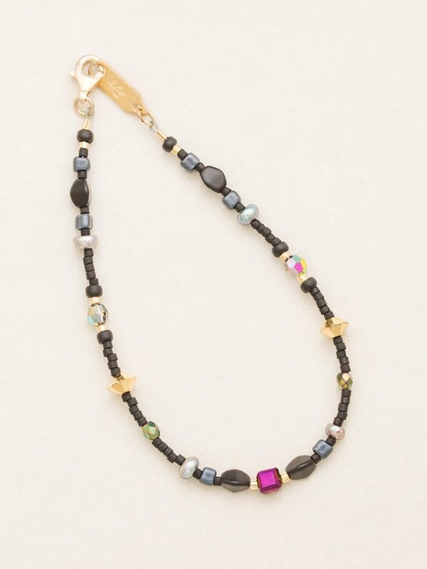HOLLY YASHI Galaxy Black Sonoma Bead Bracelet *18822