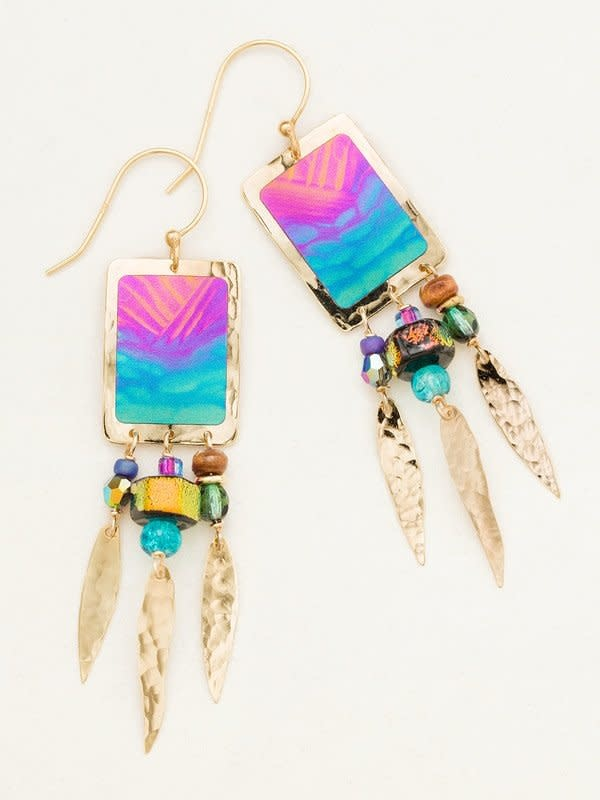 HOLLY YASHI Calypso Petite Canyon Oasis Earrings *11592