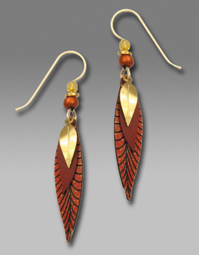 Leaves Copper & Gold Earrings