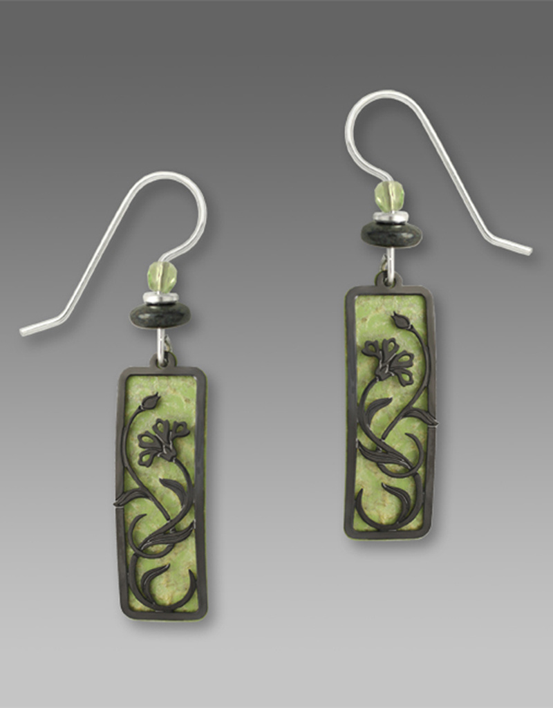 Celery Green Flower Earrings