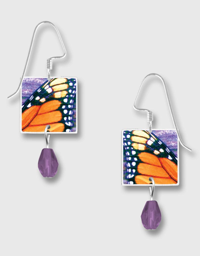 Monarch Butterfly Print Earrings