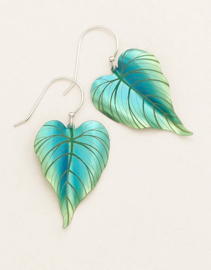 HOLLY YASHI Holly Yashi Green Tropical Heart Earrings *90152