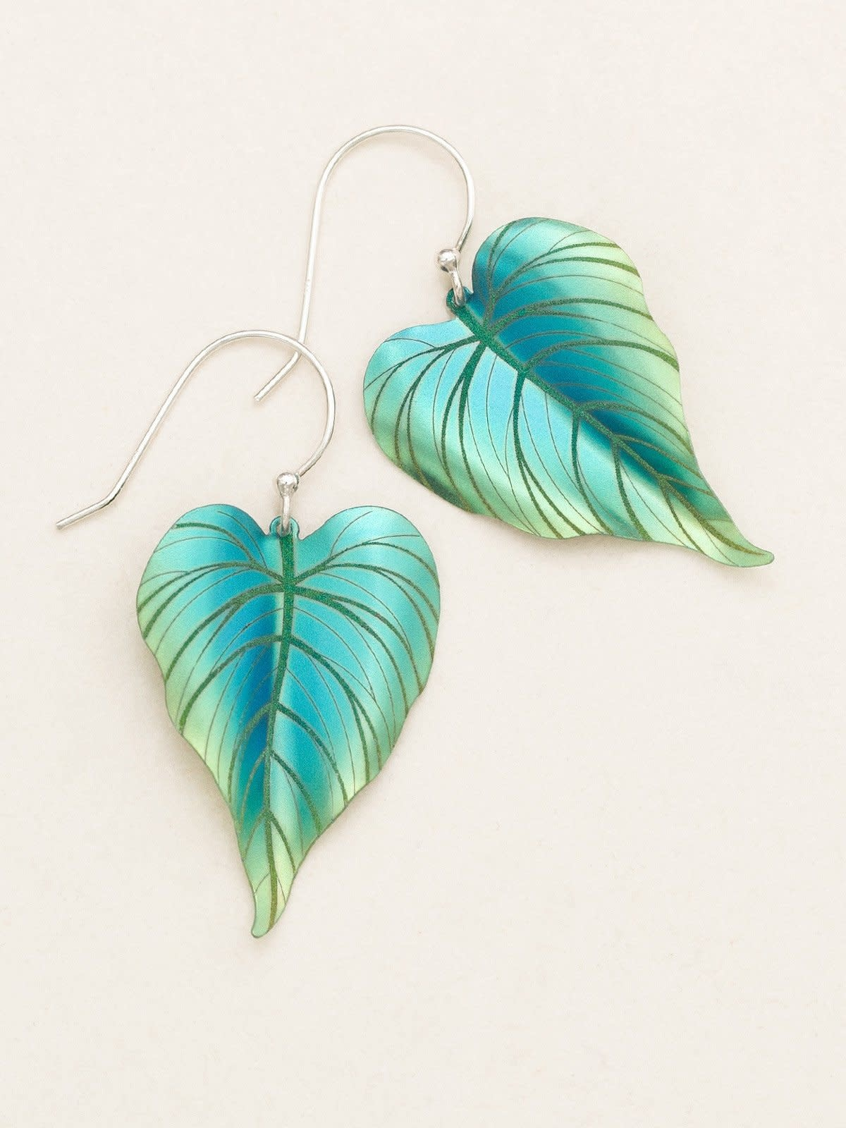 HOLLY YASHI Green Tropical Heart Earrings *90152