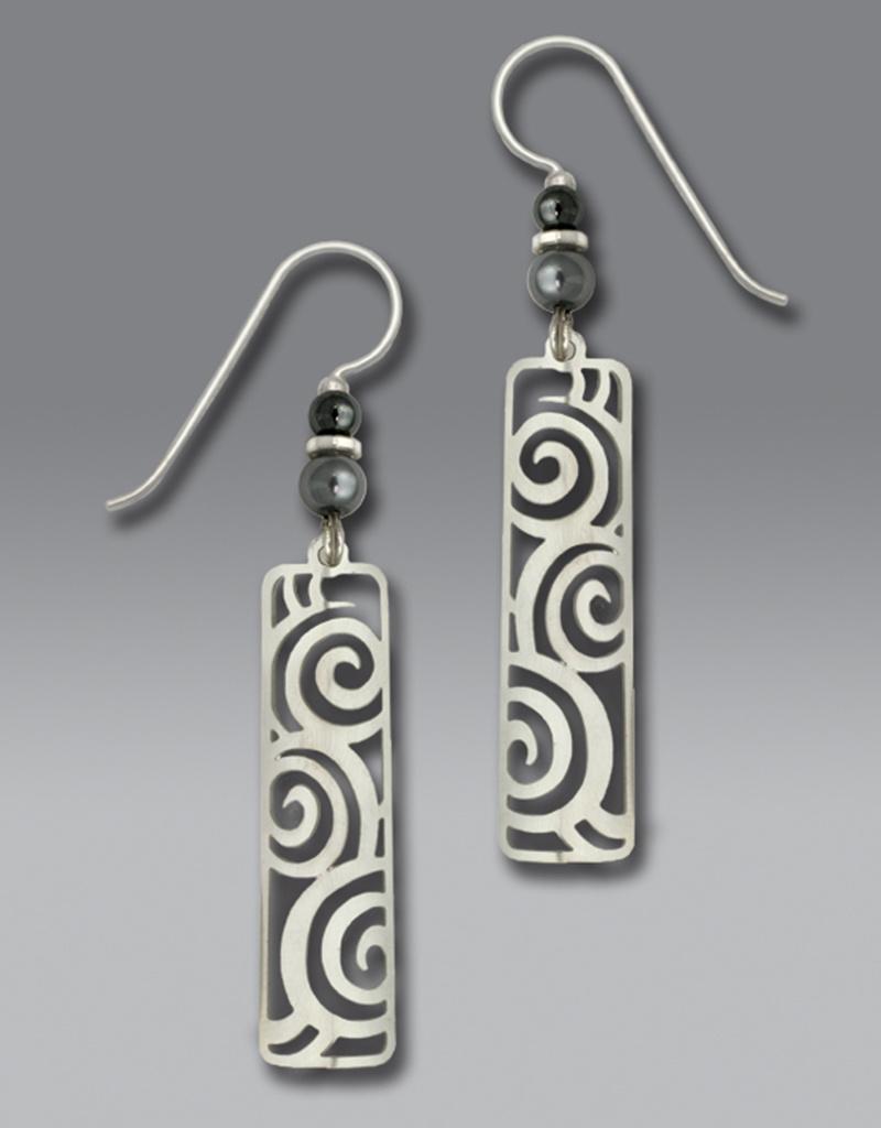 Spiral Filigree Column Earrings