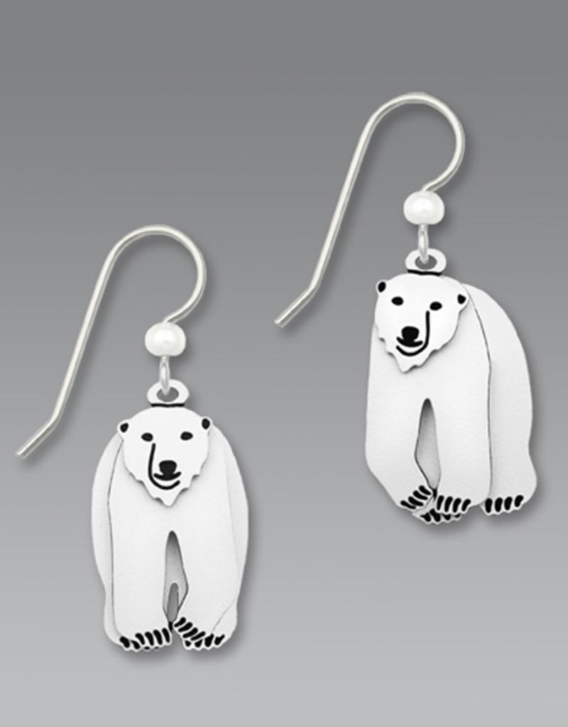 Three-Part Polar Bear Earrings