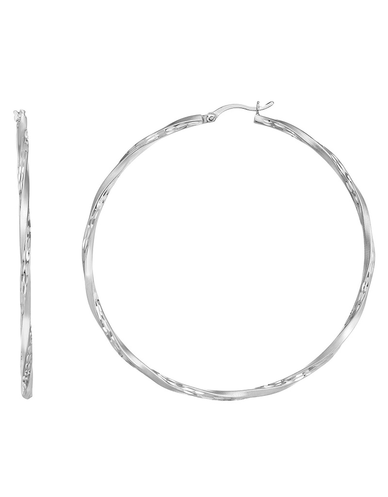 60mm Matte D/C Hoop Earrings