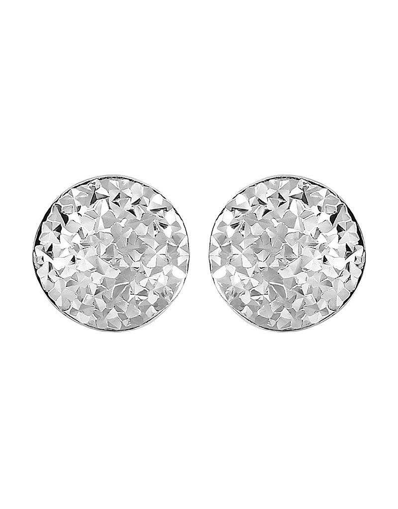 9mm Hammered Puffed Post Earrings