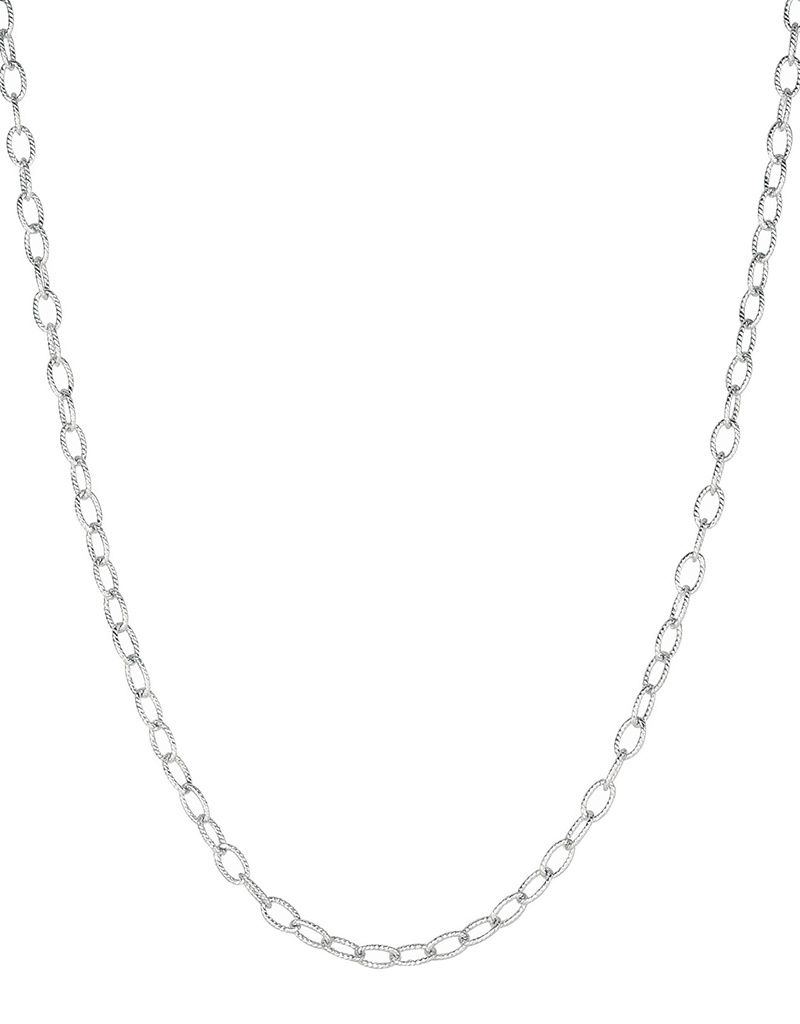 Oval Rope Link Chain Necklace 18""