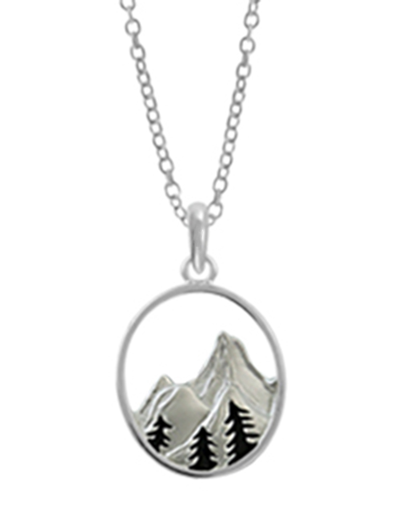 Mountain with Trees Necklace