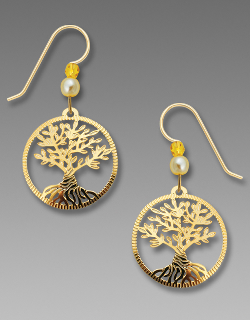 Tree of Life Twisted Gold Earrings