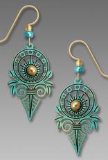 Aqua Deco Sunburst Earrings
