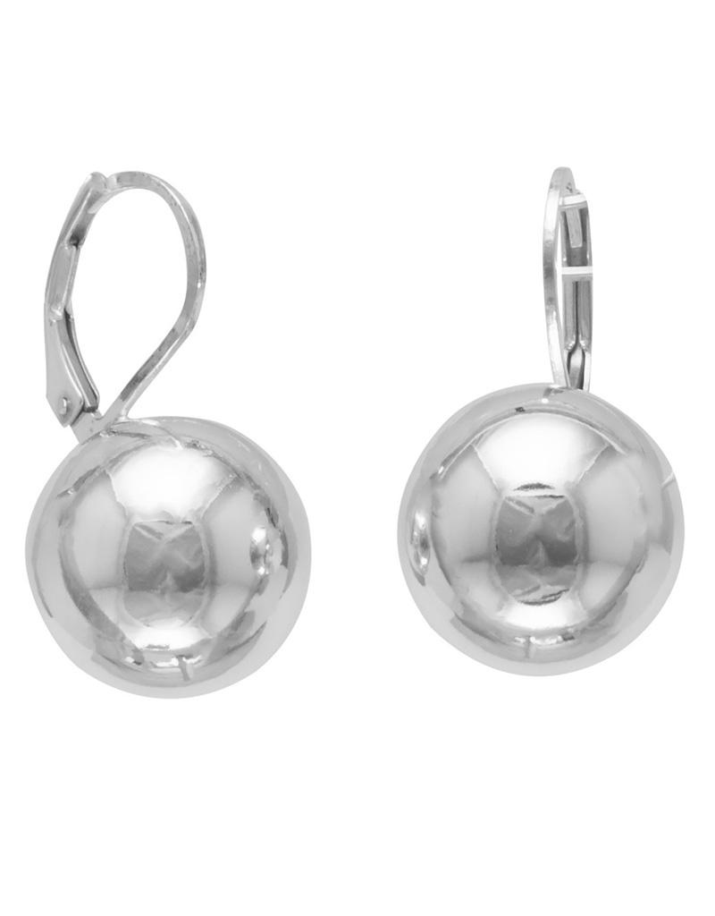 14mm Ball Leverback Earrings