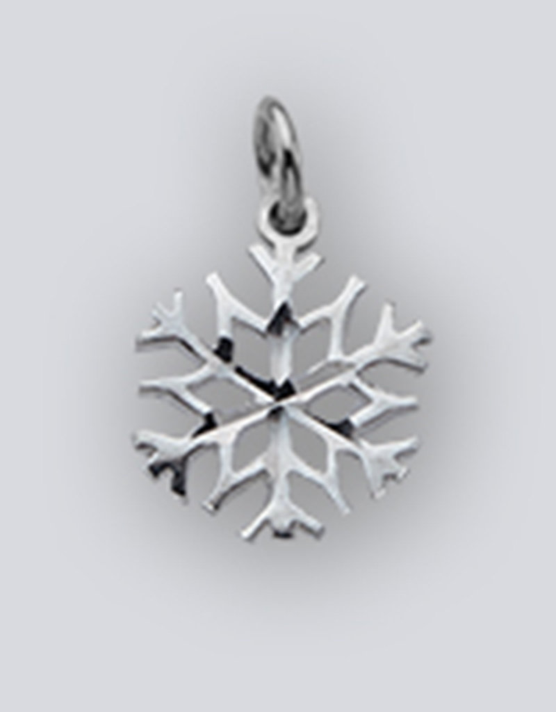 Sterling Silver Snowflake Charm 12mm (Chain Sold Separately)