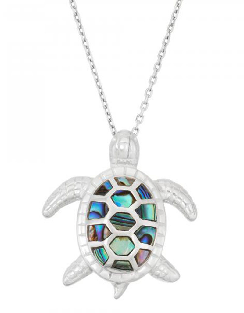 Turtle Abalone Pendant 23mm