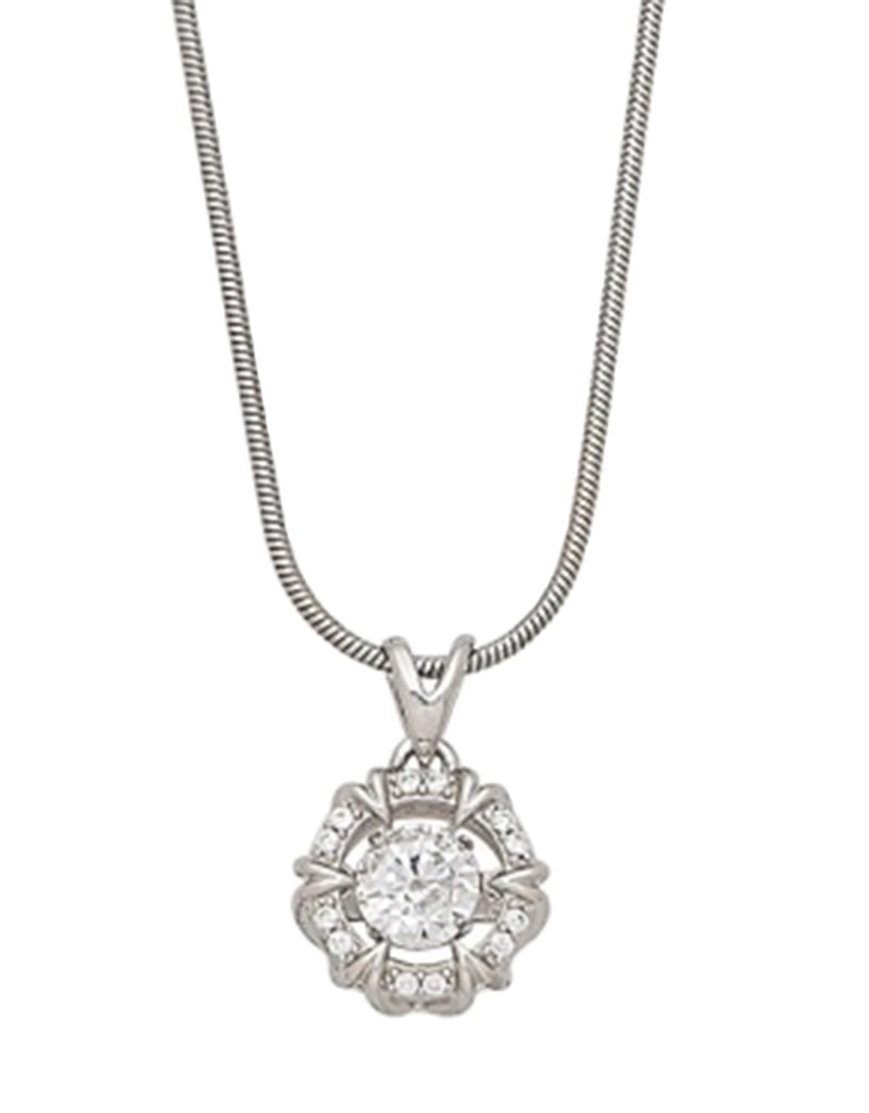 Dancing CZ Necklace 18""