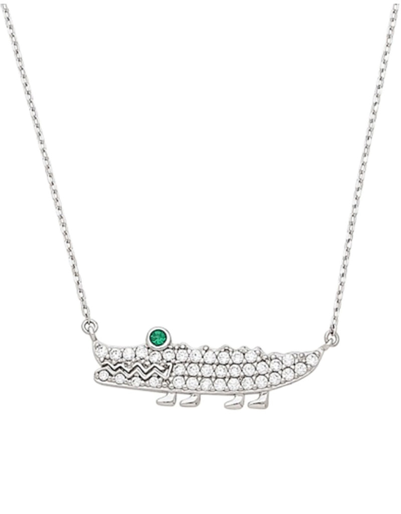 CZ Crocodile Necklace