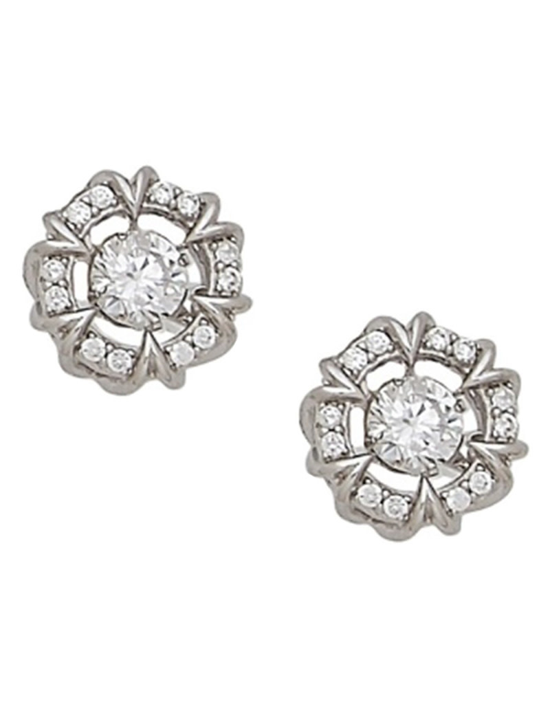 Dancing CZ Stud Earrings
