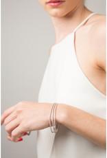 """Women's Sterling Silver Triple Strand CZ Tennis Bracelet 7"""""""