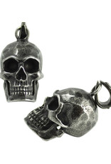 Men's Gun Metal Stainless Steel Skull Pendant 29mm