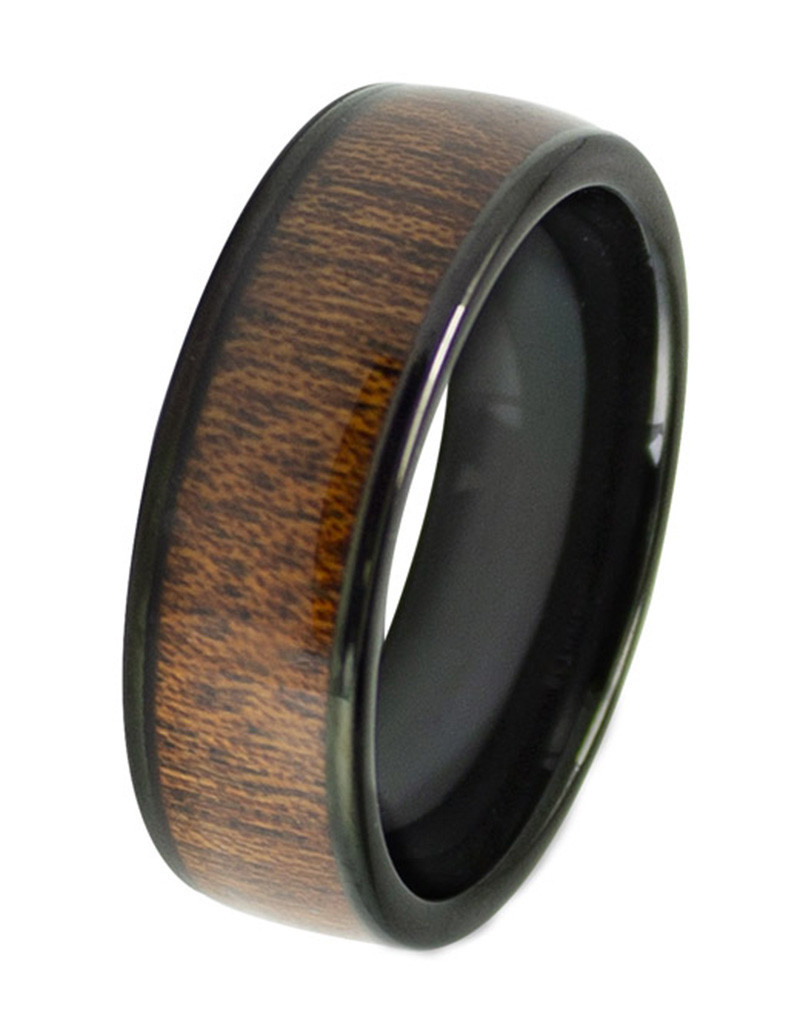 Wood Inlay Tungsten Band