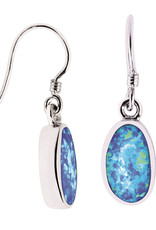 Sterling Silver Opal Earrings 13mm