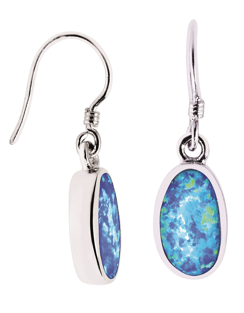 Opal Earrings 13mm