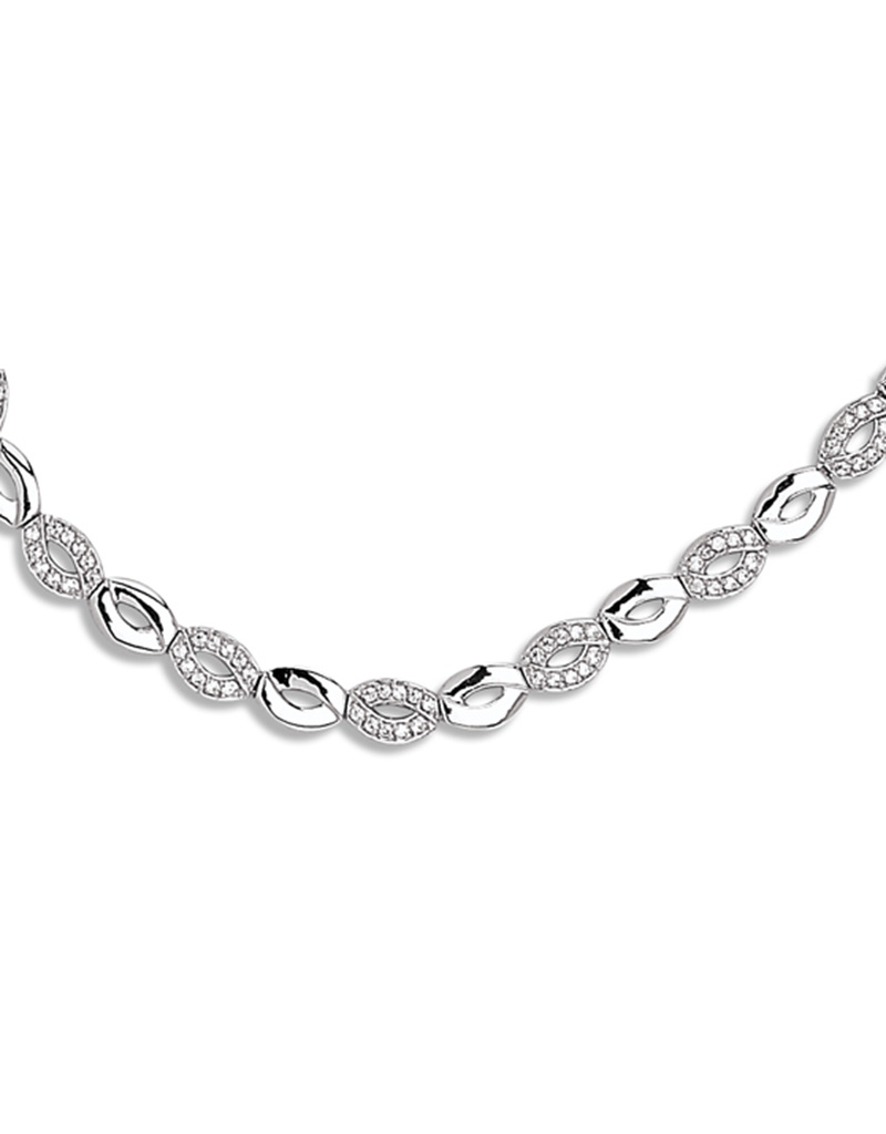Hinged Link CZ Necklace
