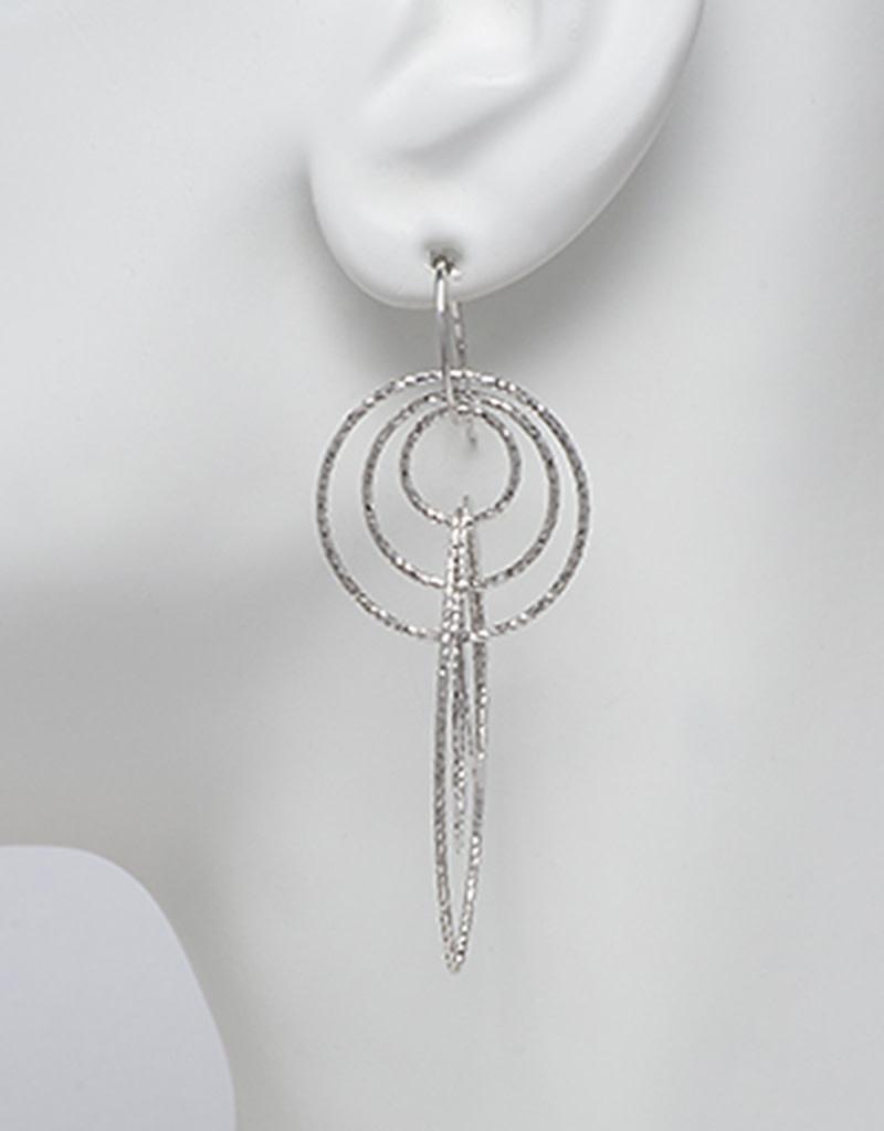 Multi Ring Wire Earrings