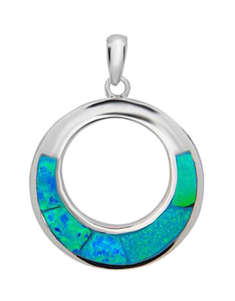 Open Circle Opal Pendant