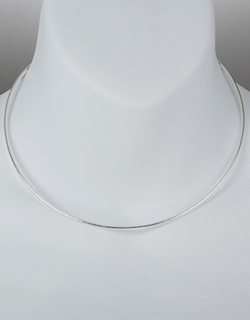 Sterling Silver Round Omega 050 Necklace