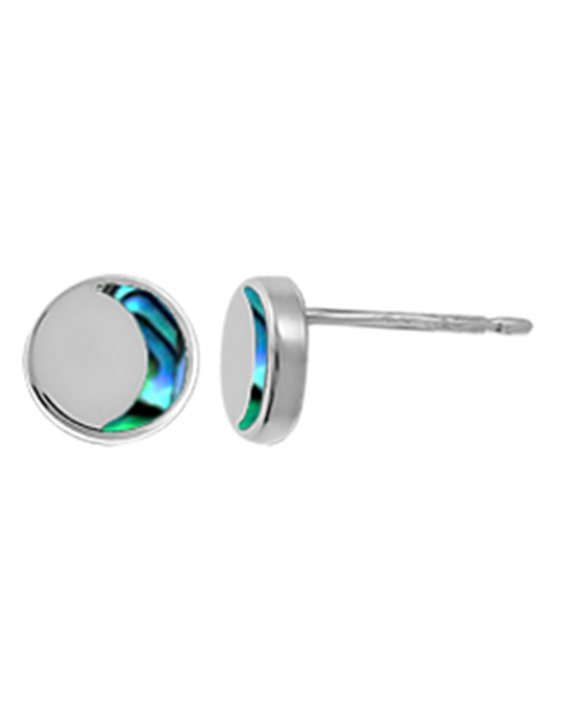 Crescent Abalone Stud Earrings 6mm