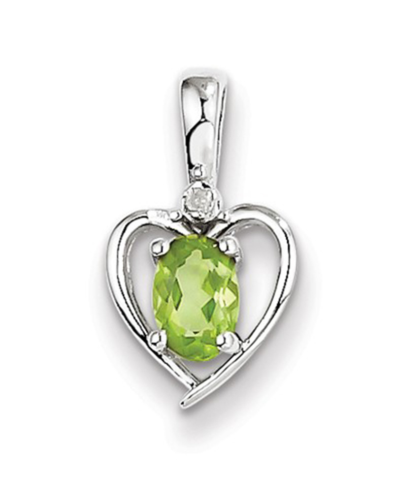 Heart Peridot Diamond Necklace