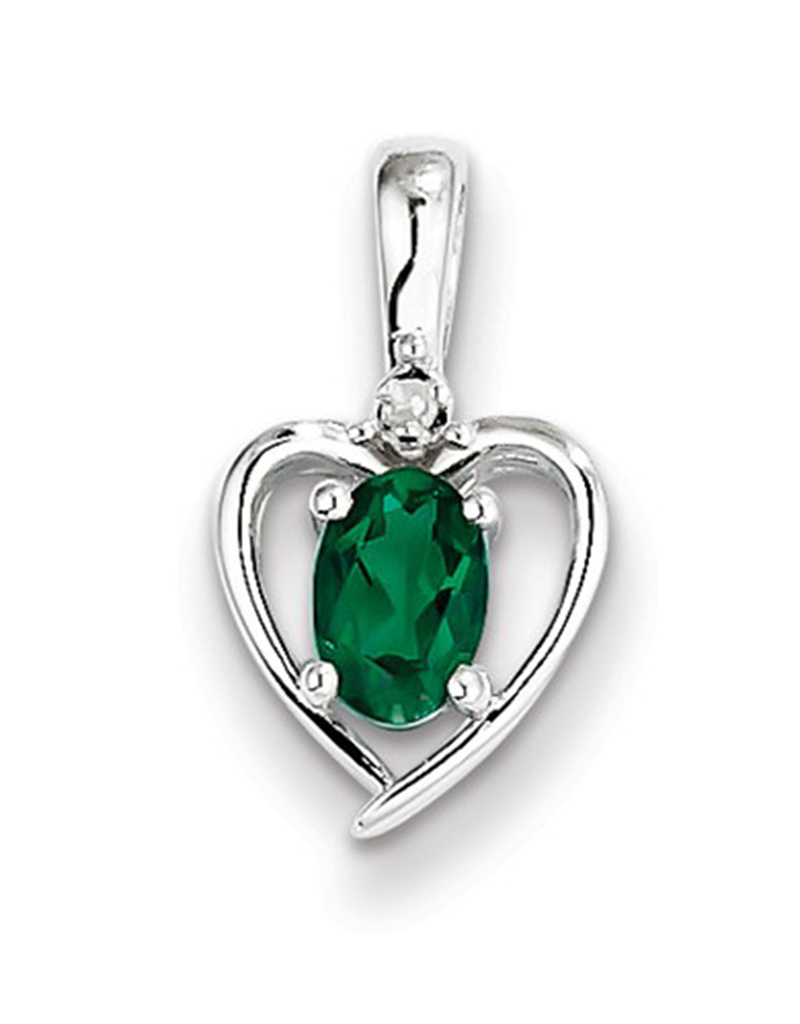Heart Emerald Diamond Necklace