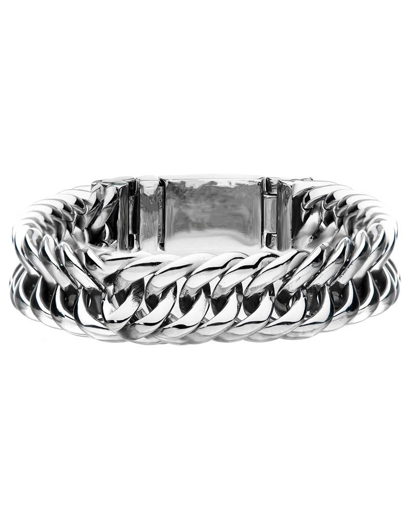 """15mm Double Curb Bracelet 8"""""""