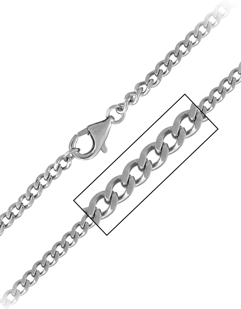 4.5mm Steel Curb Necklace