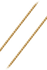 Men's 3.4mm Gold Plated Stainless Steel Wheat Link Chain Necklace