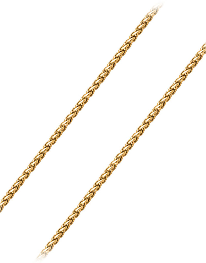 3.4mm Gold Plated Wheat Necklace