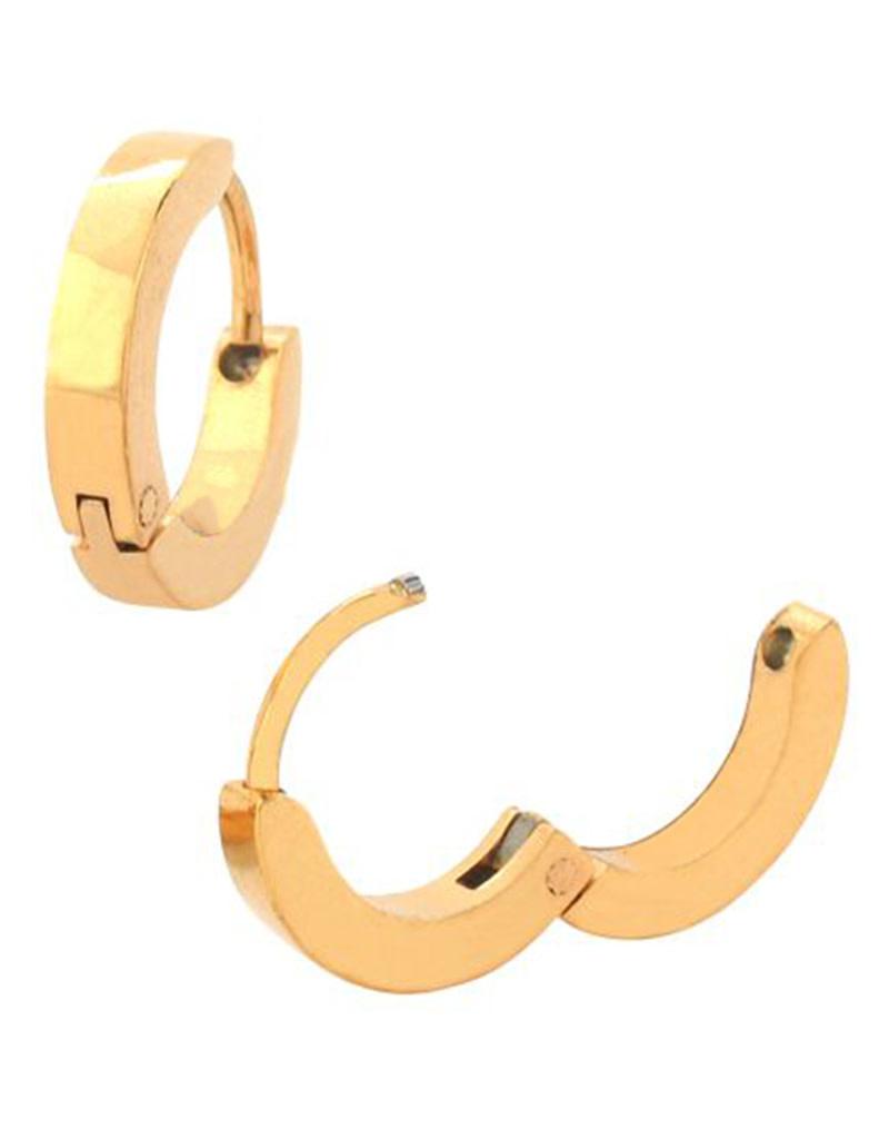 2.5mm Flat Gold Huggie Earrings