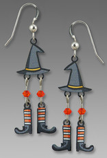Black Witch Hat with Dangling Feet