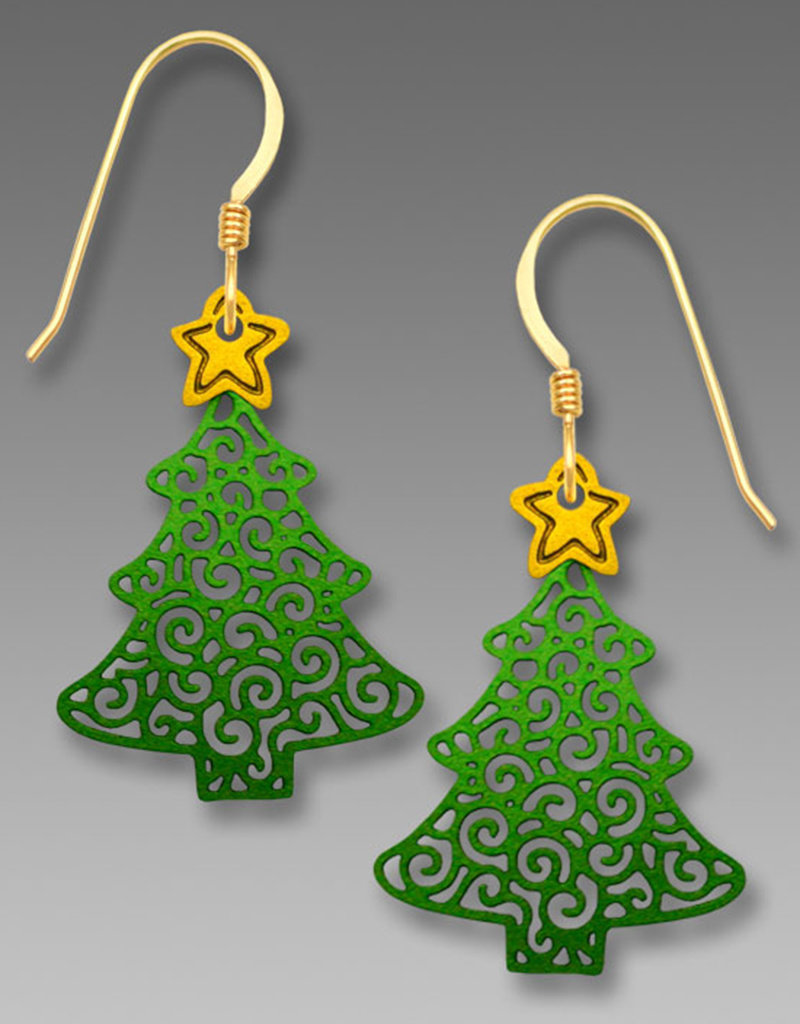 Christmas Tree with Star Earrings