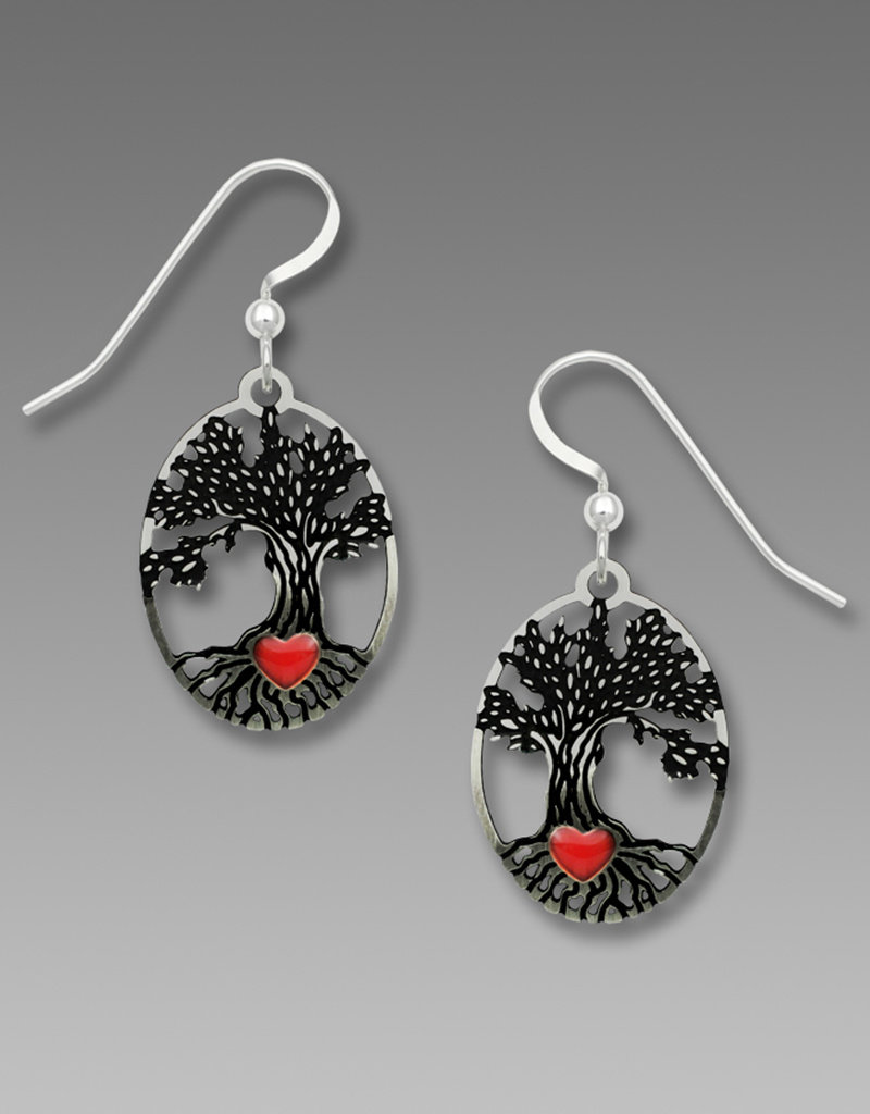 Tree of Life with Heart Earrings