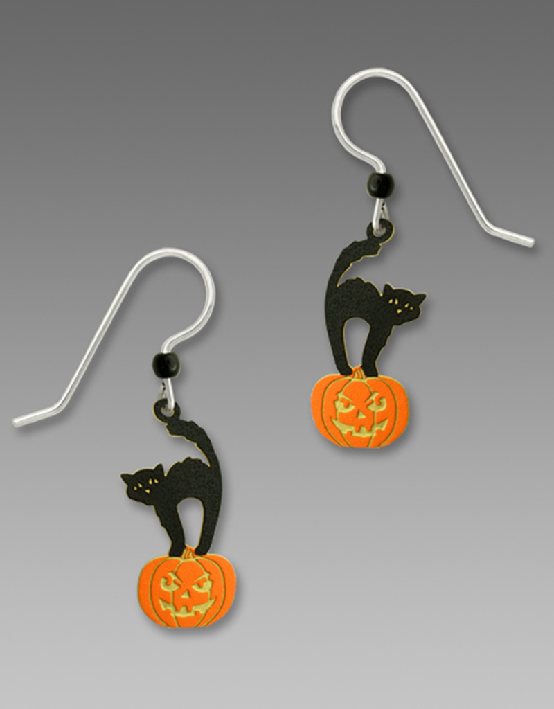 Cat Pumpkin Earrings