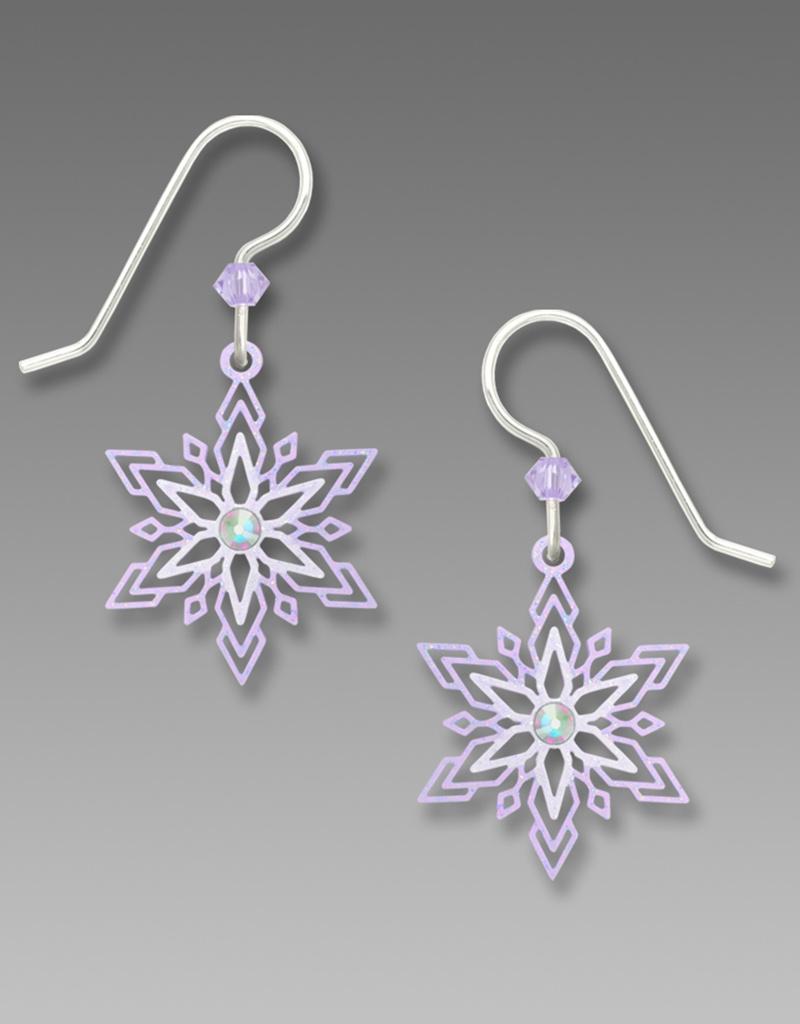 Violet Snowflake Earrings