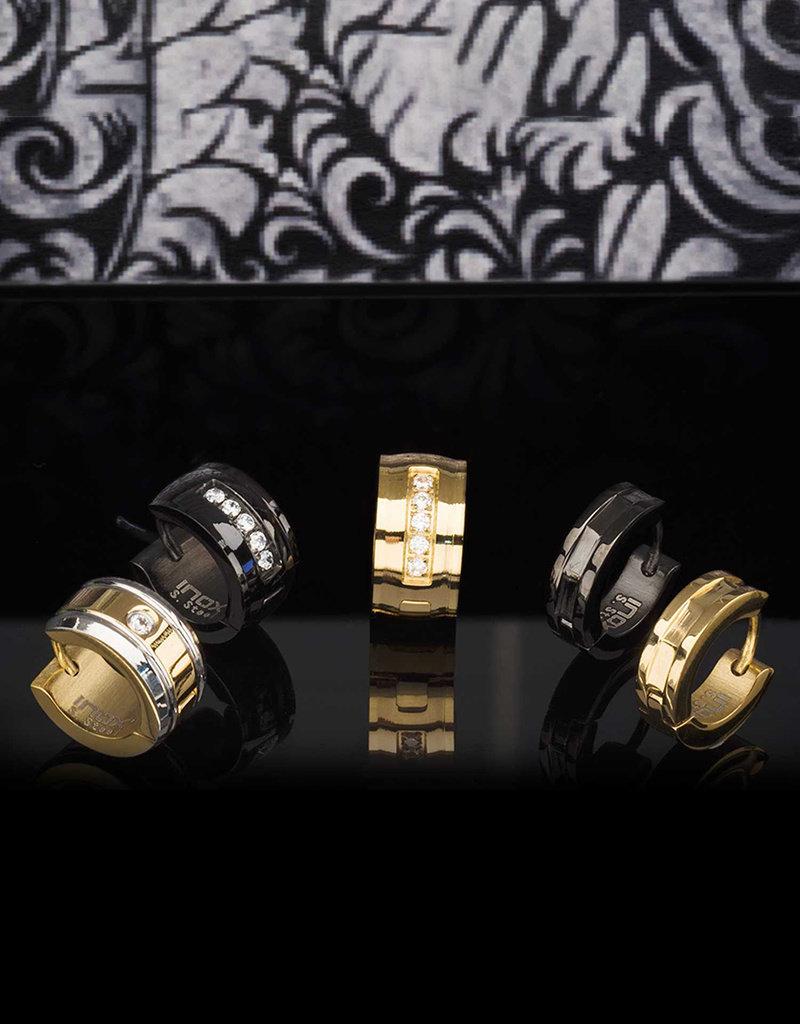 Gold Stainless Steel Huggie Earrings 13mm