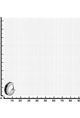 Stainless Steel Black Line Steel Huggie Earrings 13mm