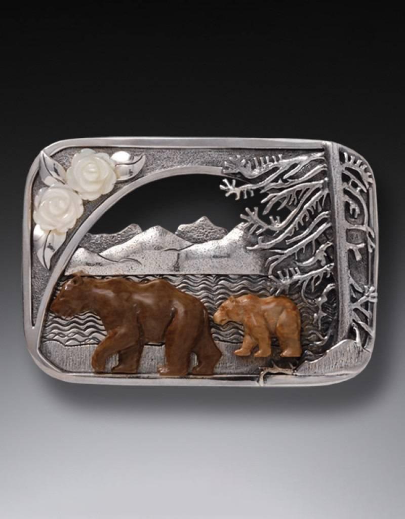 ZEALANDIA Katmai Bears Pin